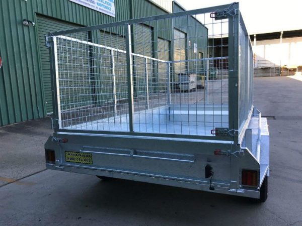10 x 5 ft Tandem Box Trailer - back view