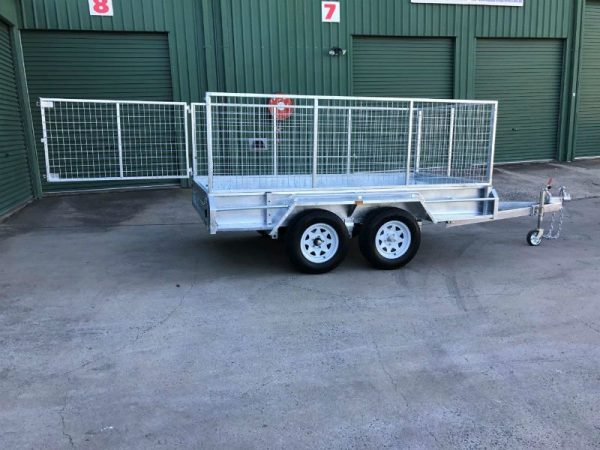 10 x 5 ft Tandem Box Trailer - side view gate open