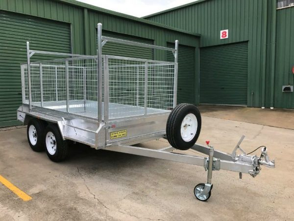 10 x 5 ft Tandem Box Trailer - ladder racks