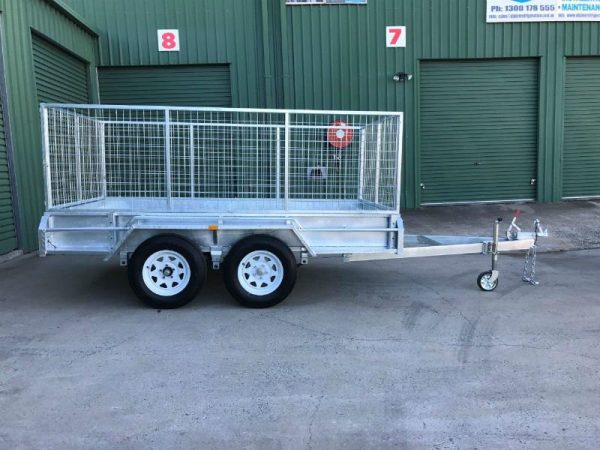 10 x 5 ft Tandem Box Trailer - side view