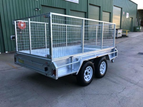 10 x 5 ft Tandem Box Trailer - with cage