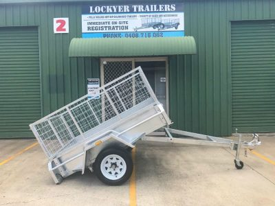 6 x 4 ft Box Trailer - Tilt side view