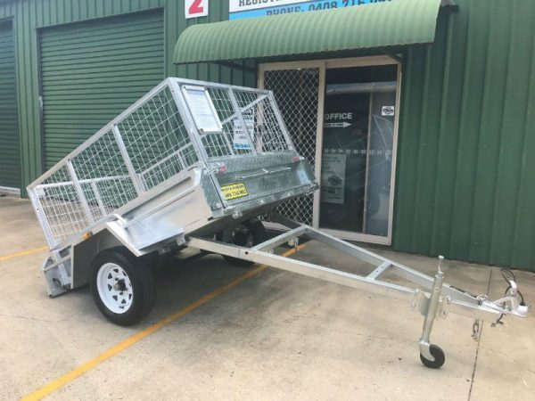 6 x 4 ft Box Trailer - Tilt view