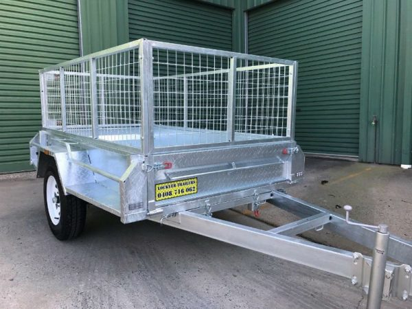 7 x 4 ft Box Trailer - front view
