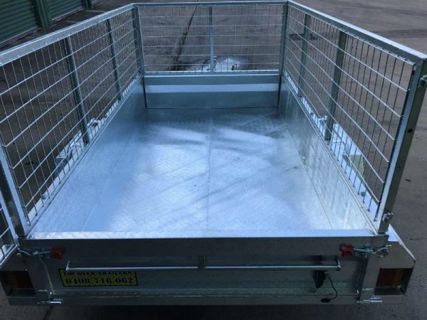 7 x 4 ft Box Trailer - inside cage view