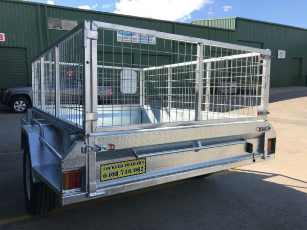 7 x 5 ft Box Trailer - back view