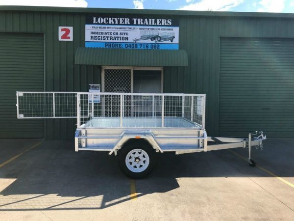 7 x 5 ft Box Trailer - gate open