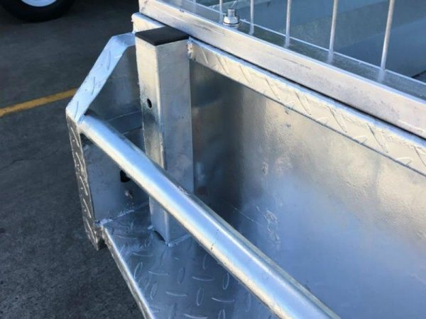7 x 5 ft Box Trailer - back close up