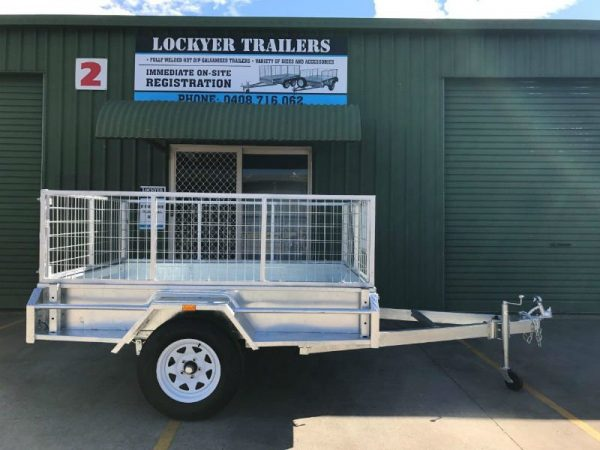7 x 5 ft Premium Box Trailer - side view