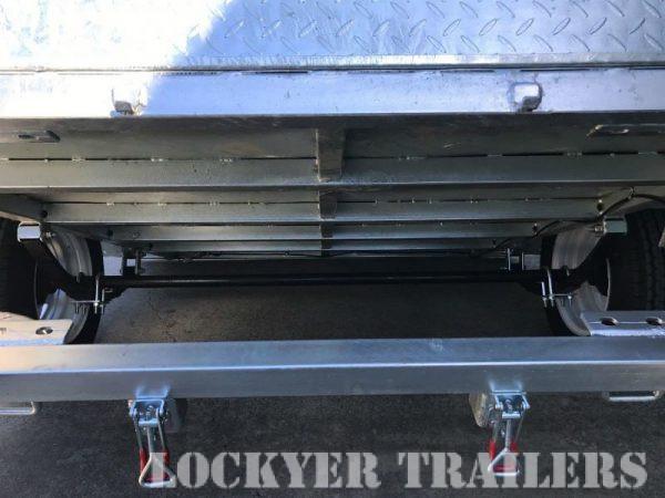 7 x 5 ft Box Trailer - under tilt
