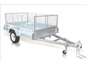 8x5 feet box trailer heavy duty