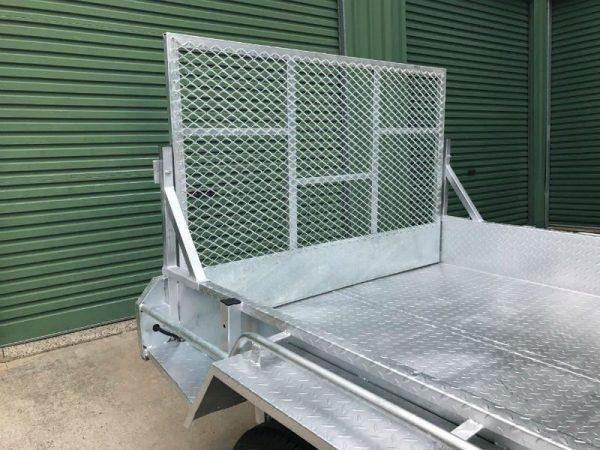 10 x 6 ft Tandem Box Trailer - back ramp up