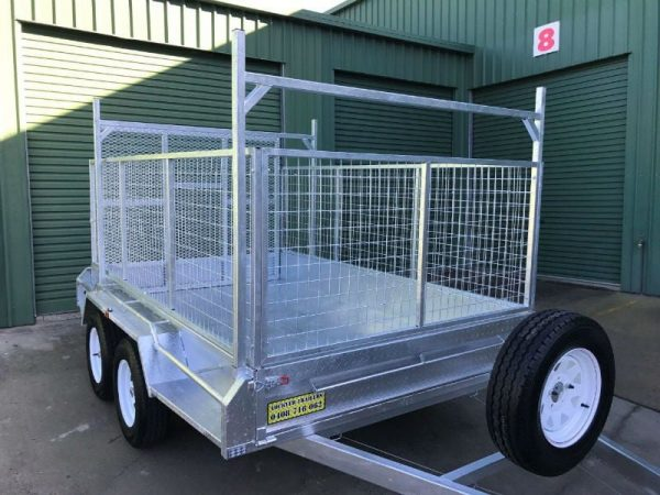 10 x 6 ft Tandem Box Trailer - ladder racks