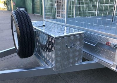 10 x 6 ft Tandem Box Trailer - toolbox