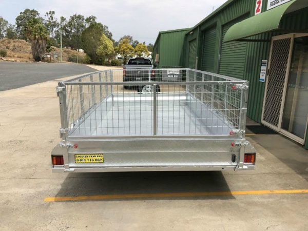 12 x 6 ft Tandem Box Trailer - back view