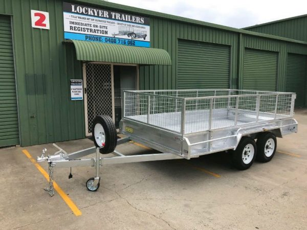 12 x 6 ft Tandem Box Trailer - side view