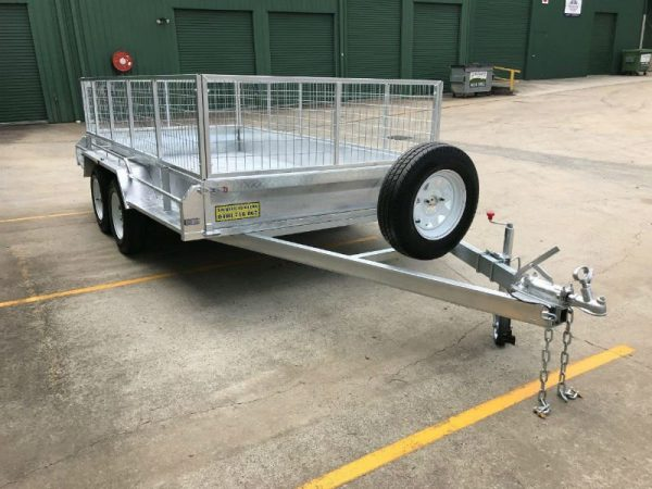 12 x 6 ft Tandem Box Trailer - front view