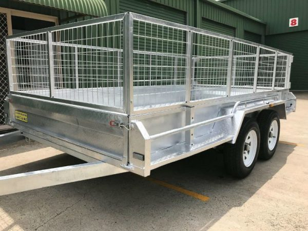 12 x 6 ft Tandem Box Trailer - side front