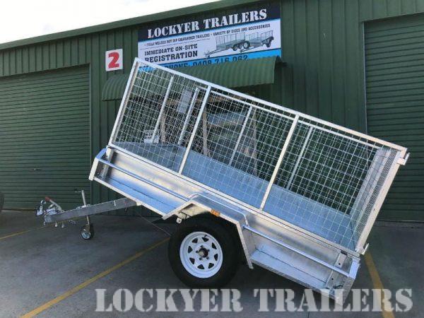 8 x 5 ft Heavy Duty Box Trailer - tilt