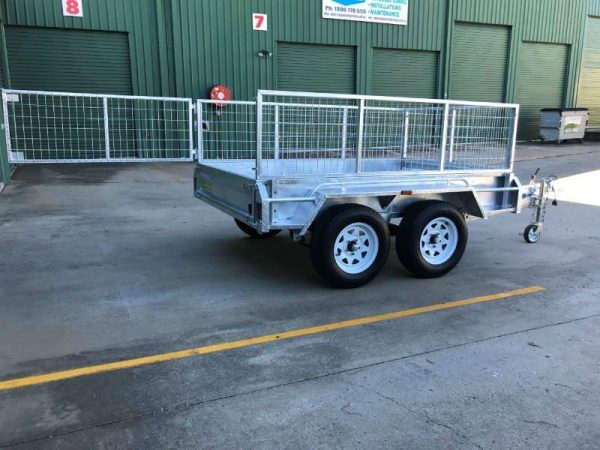 8 x 5 ft Tandem Box Trailer - gate open