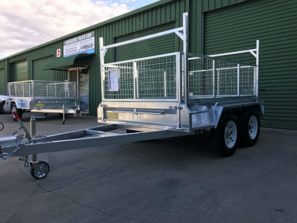 8 x 5 ft Tandem Box Trailer - ladder racks