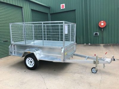 8 x 5ft Heavy Duty, Hi-side Box Trailer - Lockyer Trailers