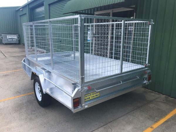 9 x 5ft Heavy Duty Box Trailer - back view