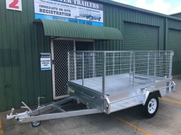 9 x 5ft Heavy Duty Box Trailer - front side