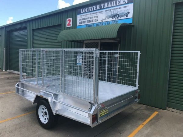 9 x 5ft Heavy Duty Box Trailer - side back view