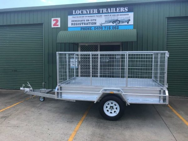 9 x 5ft Heavy Duty Box Trailer - side view
