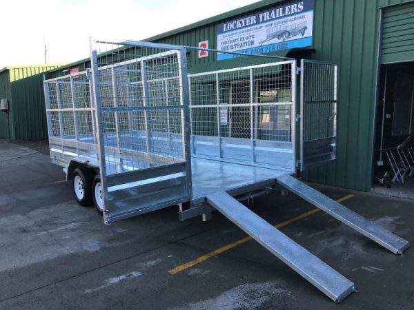 15.5 x 6.5ft Tandem Car Trailer 2 tonne - ramps