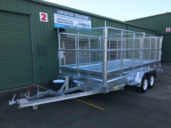 15.5 x 6.5ft Tandem Car Trailer 2 tonne - front side