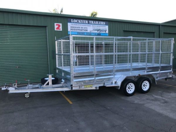 15.5 x 6.5ft Tandem Car Trailer 2 tonne - side