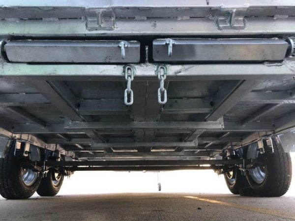 15.5 x 6.5ft Tandem Car Trailer 2 tonne underneath