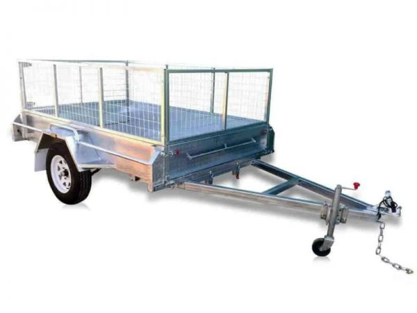 7 x 5ft Standard Box Trailer with cage