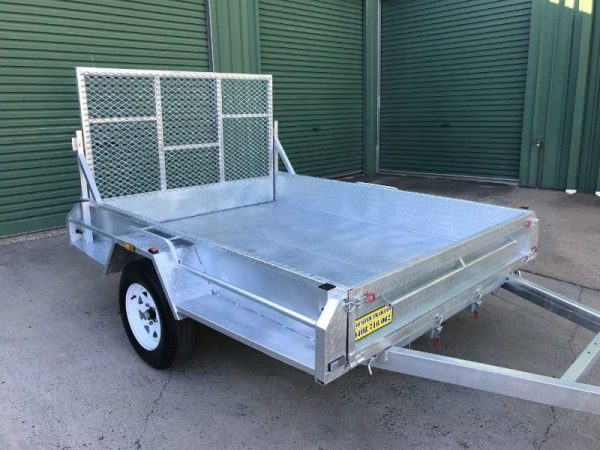 8 x 6 ft Heavy Duty Box Trailer - front