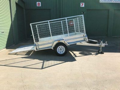 8 x 6 ft Premium Heavy Duty Box Trailer