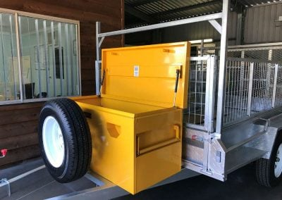 Front Tool Box and Spare Wheel