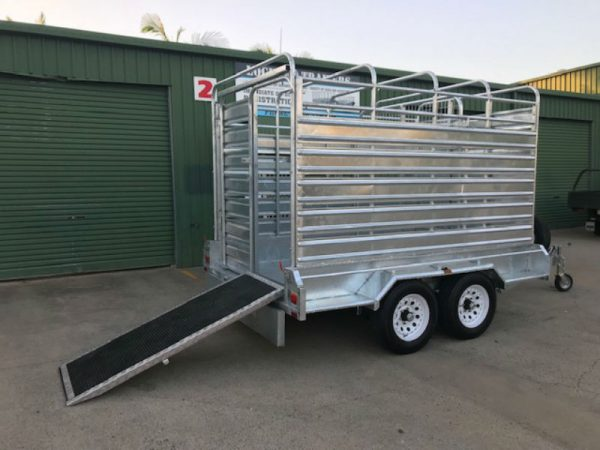 10 x 6 ft Cattle Crate Trailer - ATM 3.5tonne