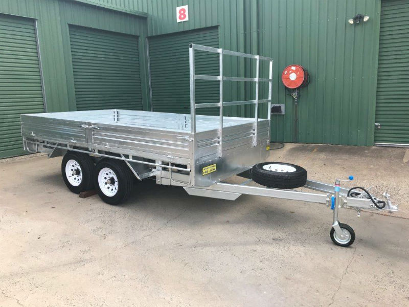 Flat Deck Trailer >> 12 X 7 Ft Extra Heavy Duty Flat Deck Trailer Atm 3500kg With Loading Ramps