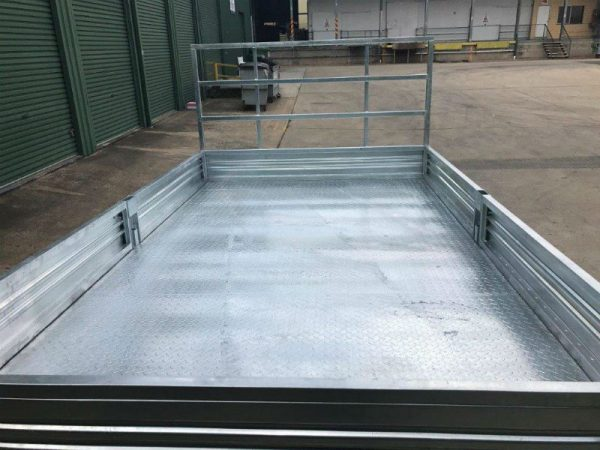 14 x 7 ft Extra Heavy Duty Flat Deck Trailer ATM 3500kg, with Loading Ramps