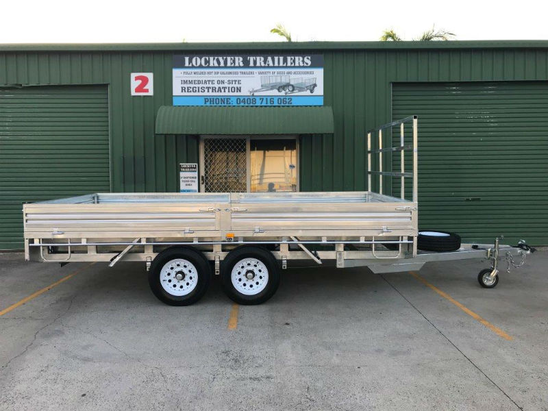 Flat Deck Trailer >> 14 X 7 Ft Extra Heavy Duty Flat Deck Trailer Atm 3500kg With Loading Ramps