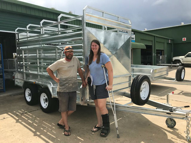 Grant and Katy – Cattle Crate Trailer