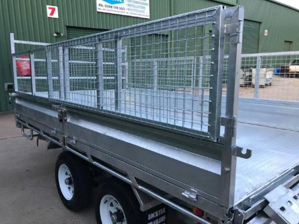 12 x 7ft Flat Deck Hydraulic Tipping Trailer