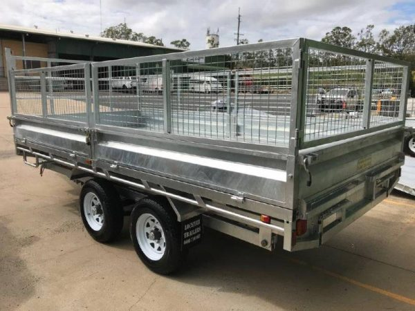 14 x 7ft Flat Deck Hydraulic Tipping Trailer