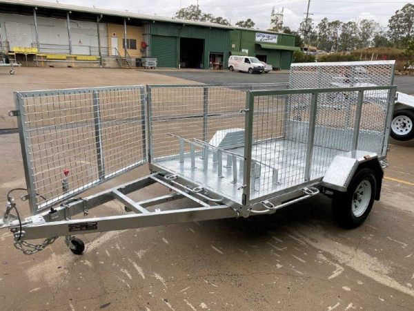 8 x 5 ft Tilting Motorbike / ATV / Flat Deck Trailer