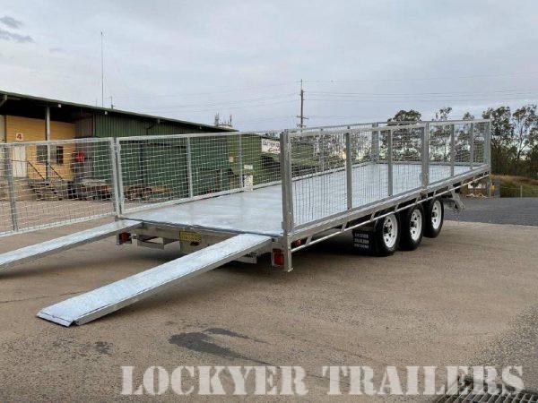 Tri-Axle Flat Deck Hydraulic Tilt Trailer