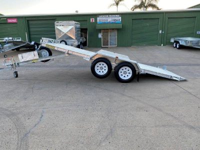 Car and Machinery Hydraulic Tilting Rampless Trailer