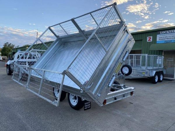 12x7ft Hydraulic 3 Way Flat Deck Tipper Trailer
