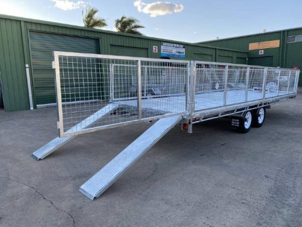 22.6 x 8ft Flat Deck-Hydraulic Tipping Trailer